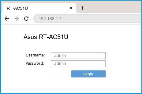 Asus RT-AC51U Login Process