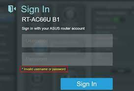 Can't Login To Asus Router